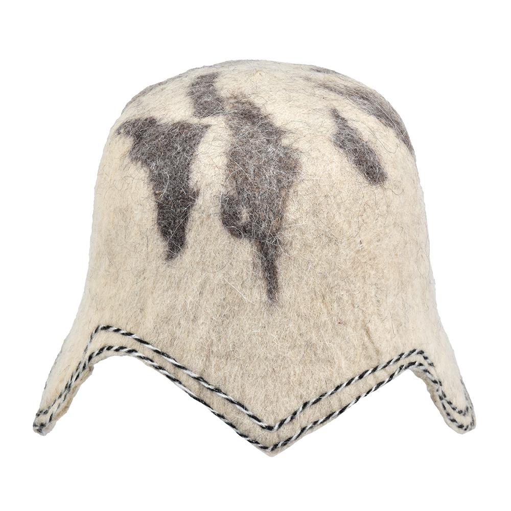 Банная шапка банные штучки воин, шерсть 100% 41321  - купить со скидкой