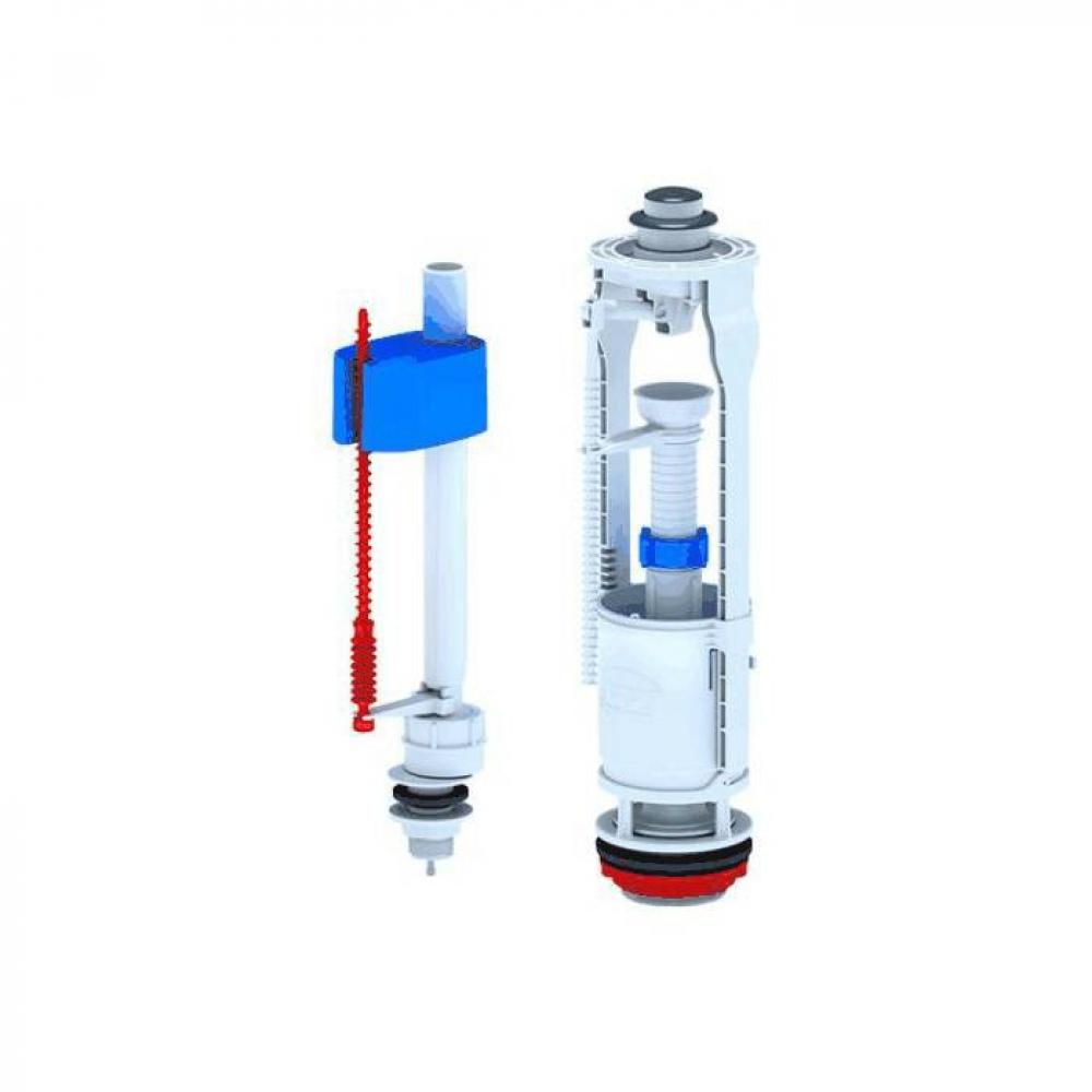 Купить Арматура для бачка ани пласт набор: нижняя подводка, кнопка хром, 1 режим, эконом wc6550m 023-2655