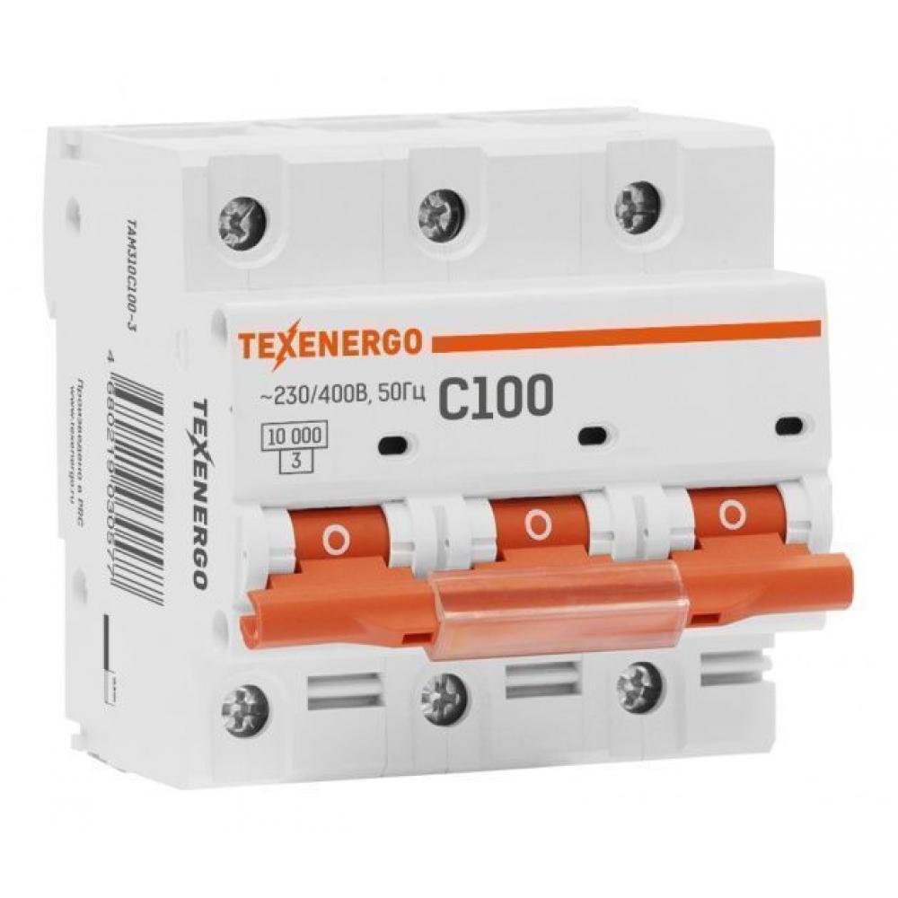 Купить Автоматический выключатель texenergo ва 47100 3п 100а 10ка характеристика с tam310c0100-1
