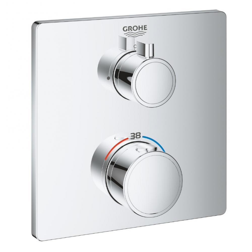 Термостат для душа grohe grohtherm квадратная розетка, комплект верхней монтажной части 24078000