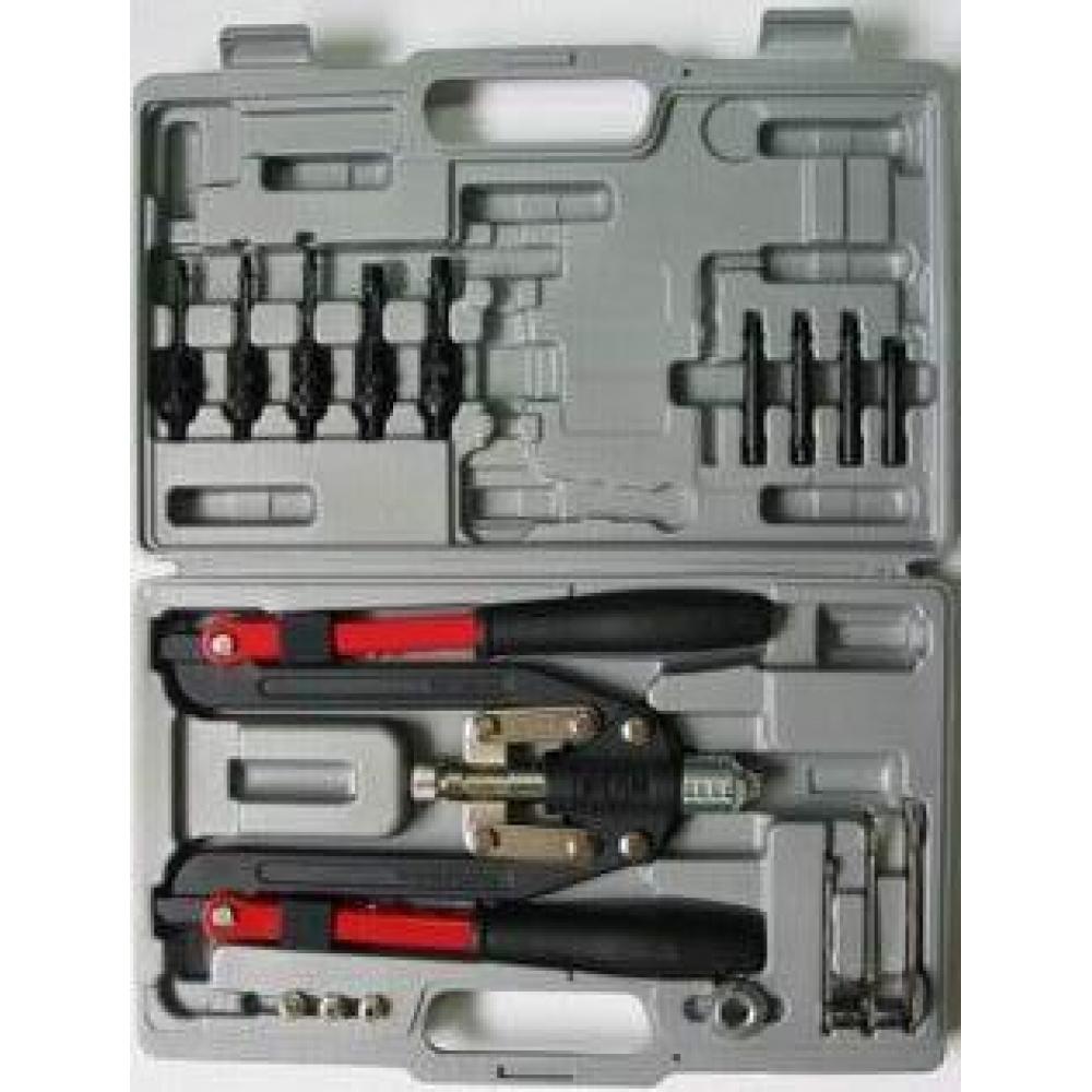 Купить Заклепочник для всех типов заклепок skrab 3, 2-6, 4мм в кейсе 26211