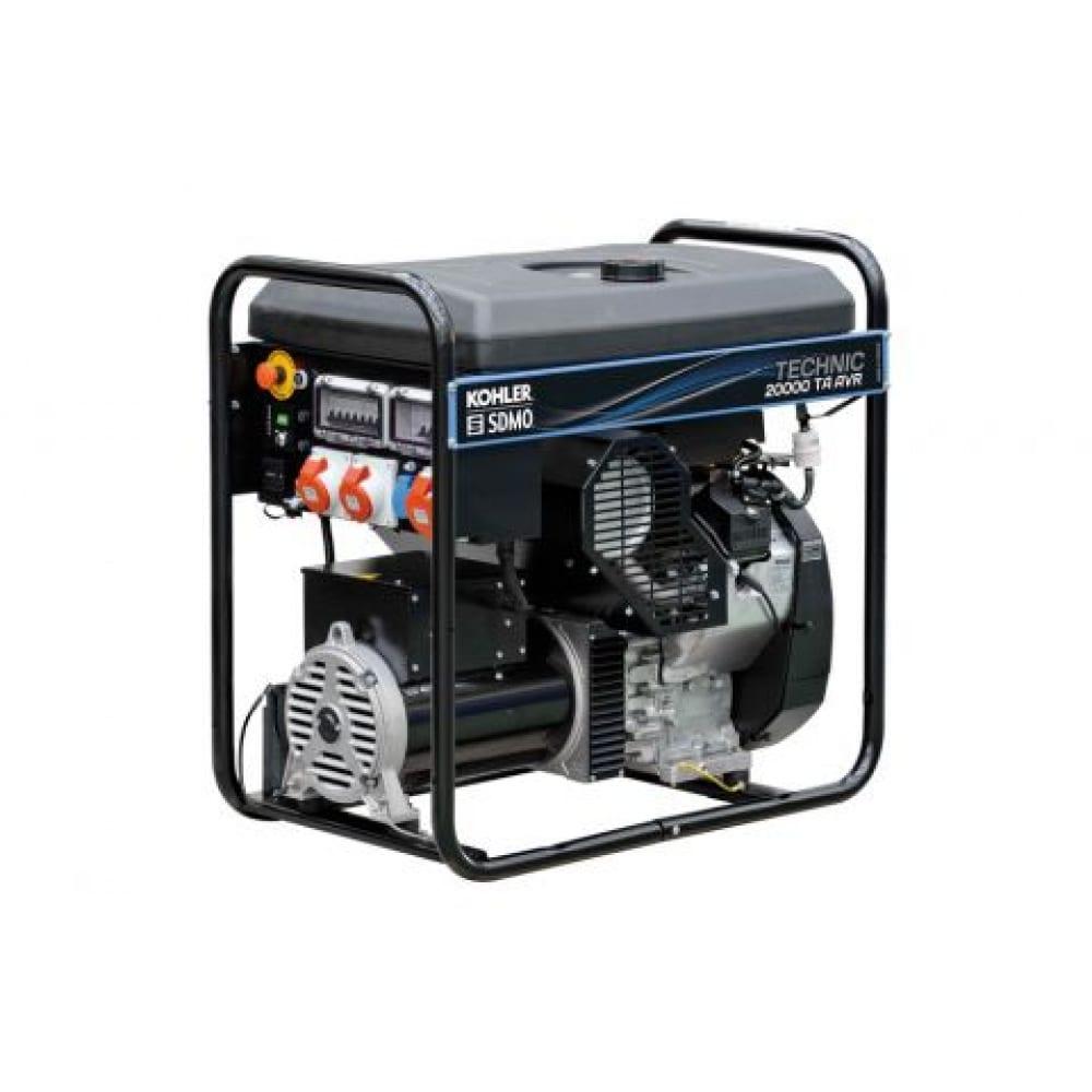 Бензиновый генератор kohler-sdmo technic 20000 te avr c 12 квт, 380/220 в 101150759