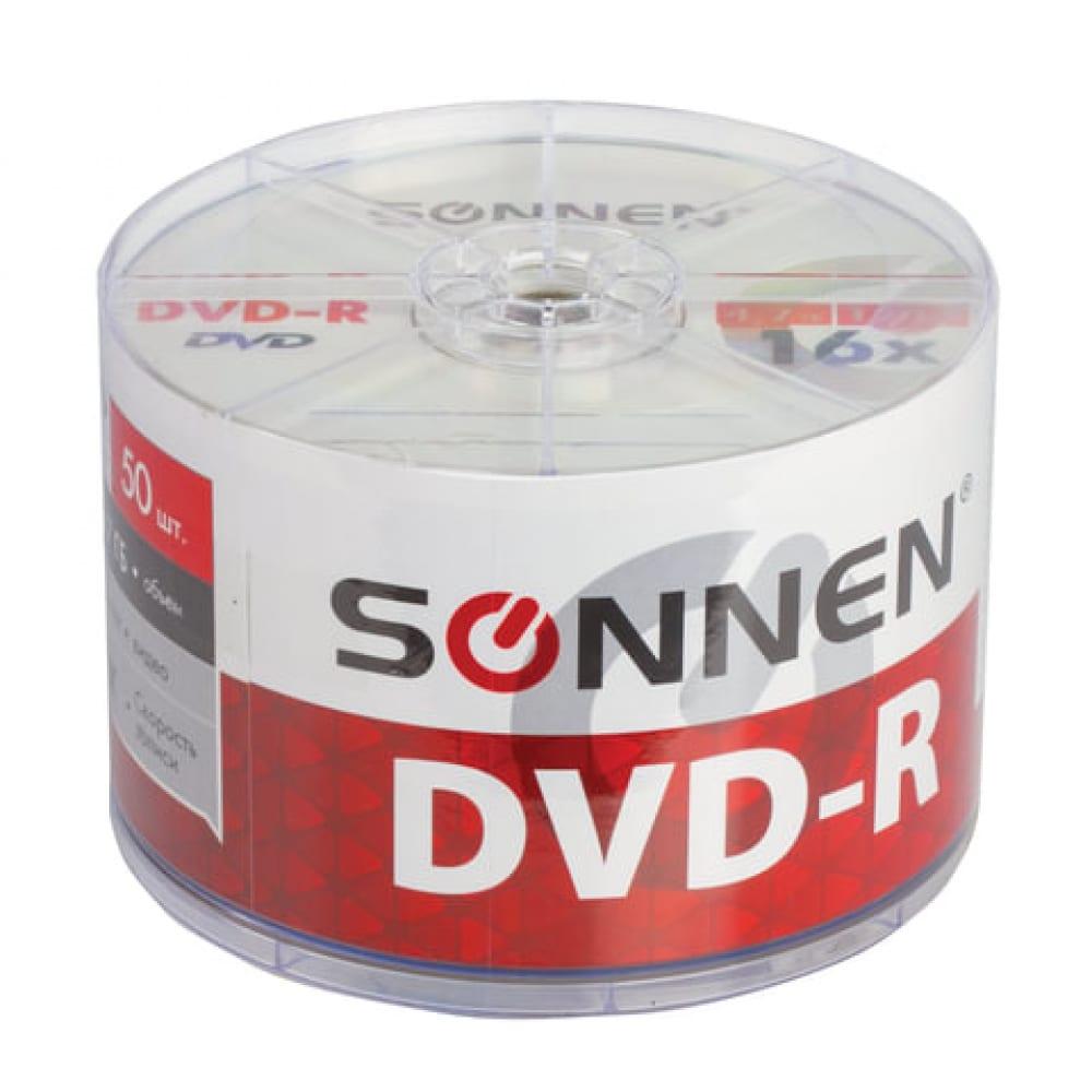 Диски sonnen dvd r 4.7gb 16x bulk,