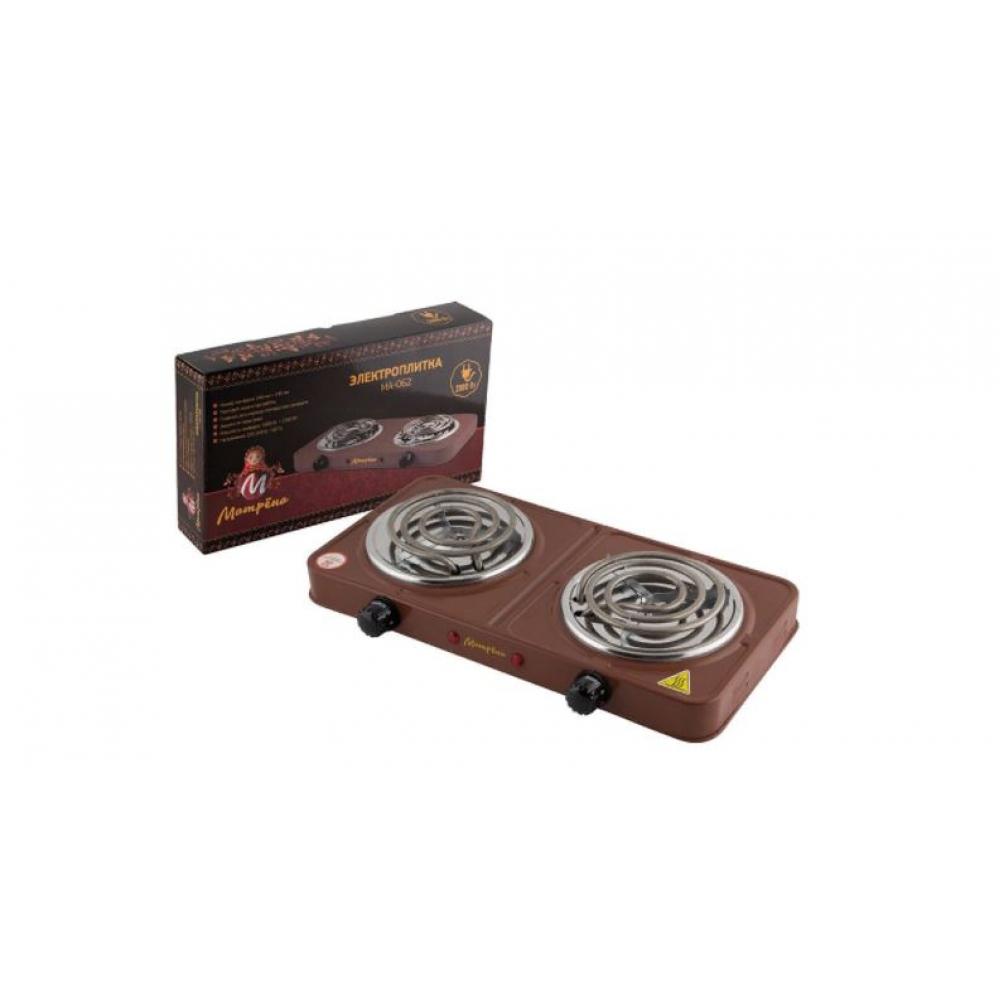 Купить Электроплитка матрёна ма-062, коричневый, тэн, 2 конфорки 006058
