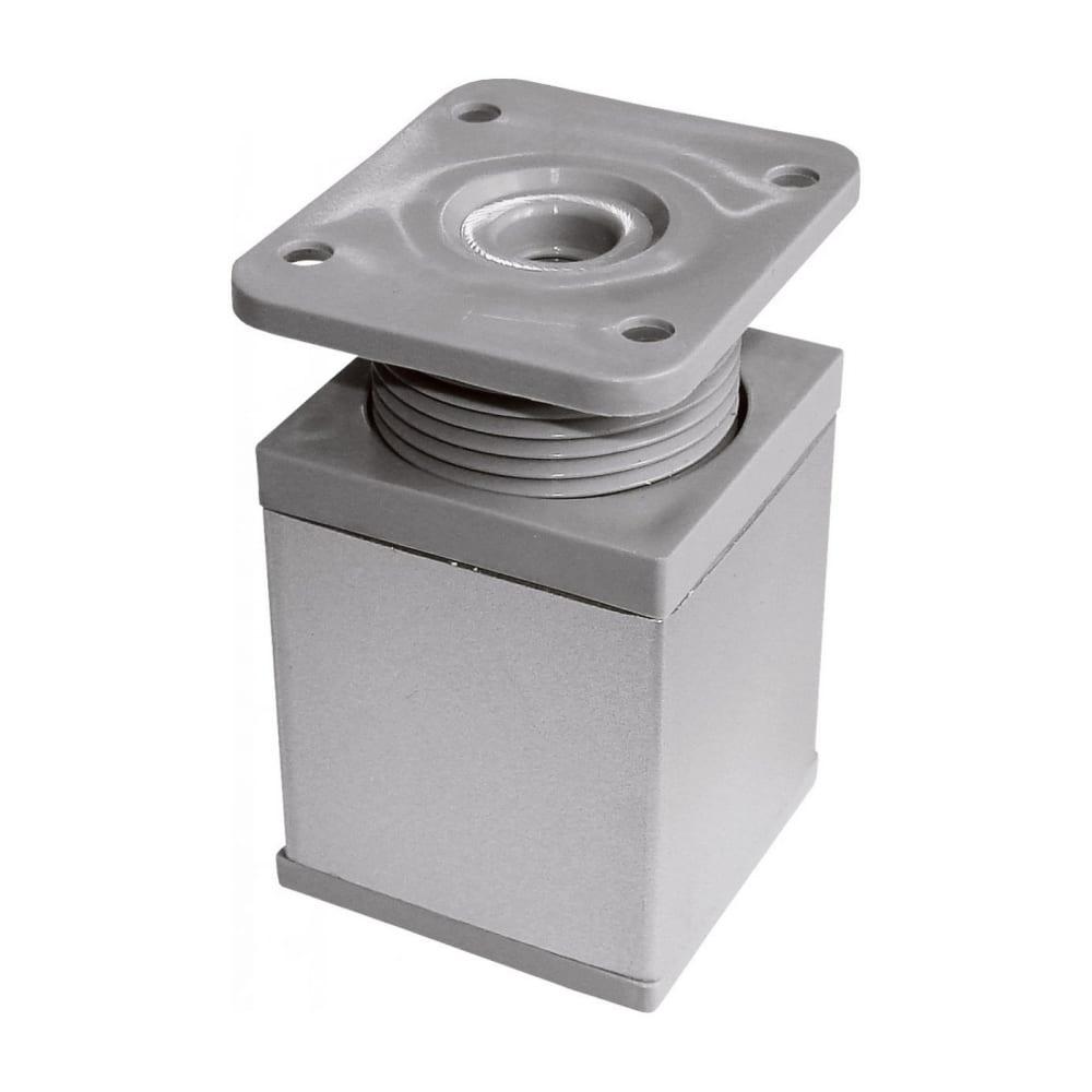 Купить Ножка tech-krep 40х40х60 мм, квадрат, регулируемая сверху, алюминий - накладка 127482