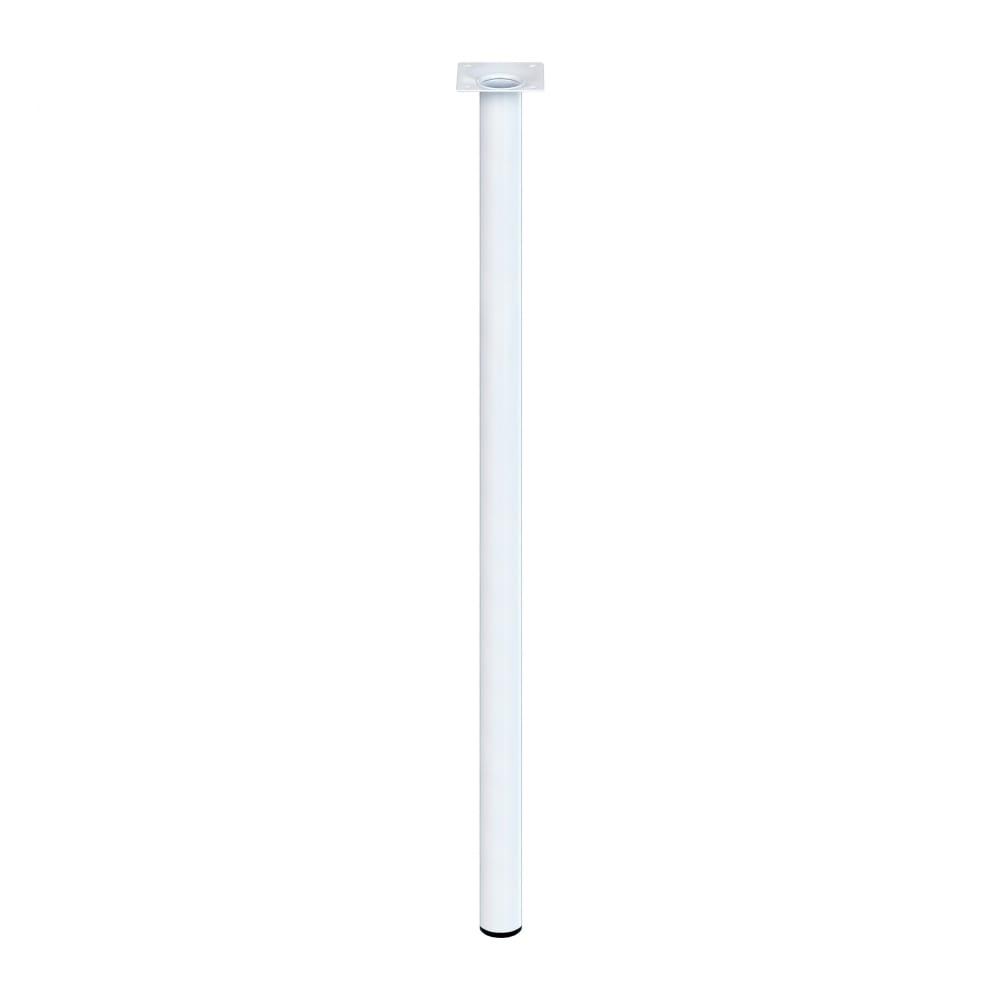 Купить Ножка tech-krep d30х700 круглая, нерегулируемая, белая - накладка 151248