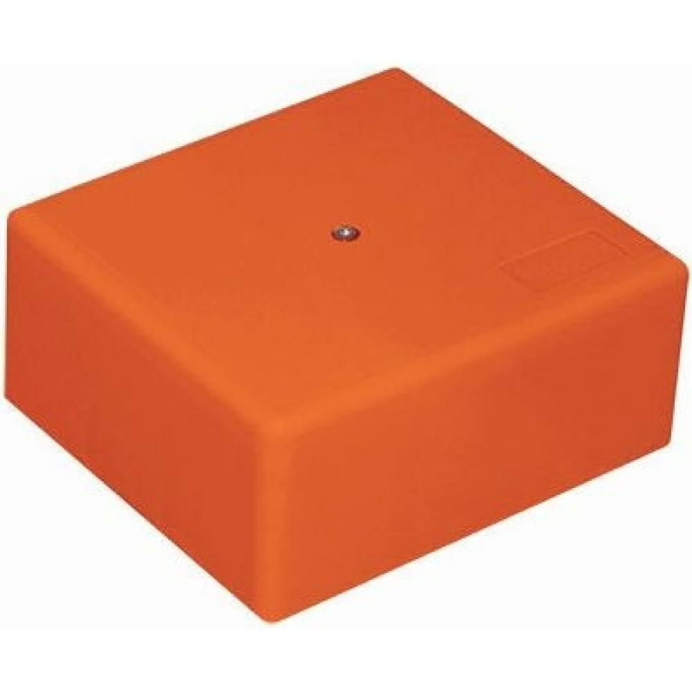 Купить Огнестойкая коробка экопласт mb75 e110, о/п 75х75х40, с гладкими стенками, ip41, 3p, оранжевый 46011hf