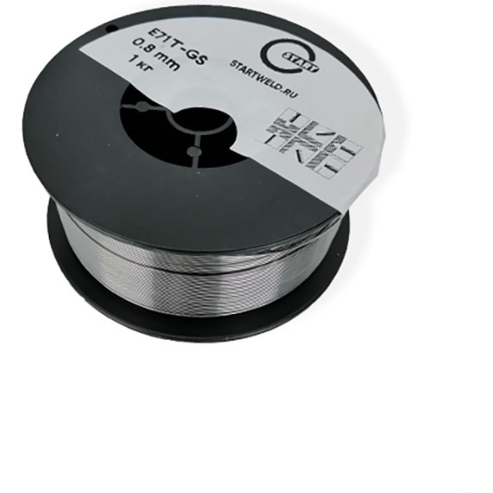 Проволока сварочная порошковая e71t-gs (1 кг; 0.8 мм) start ste7108