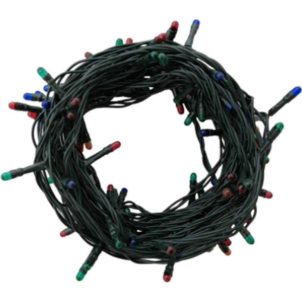 Купить Гирлянда vilart 220в, 40вт, 7м, 100 ламп, мульти, ip20, шнур зелёный 15-78
