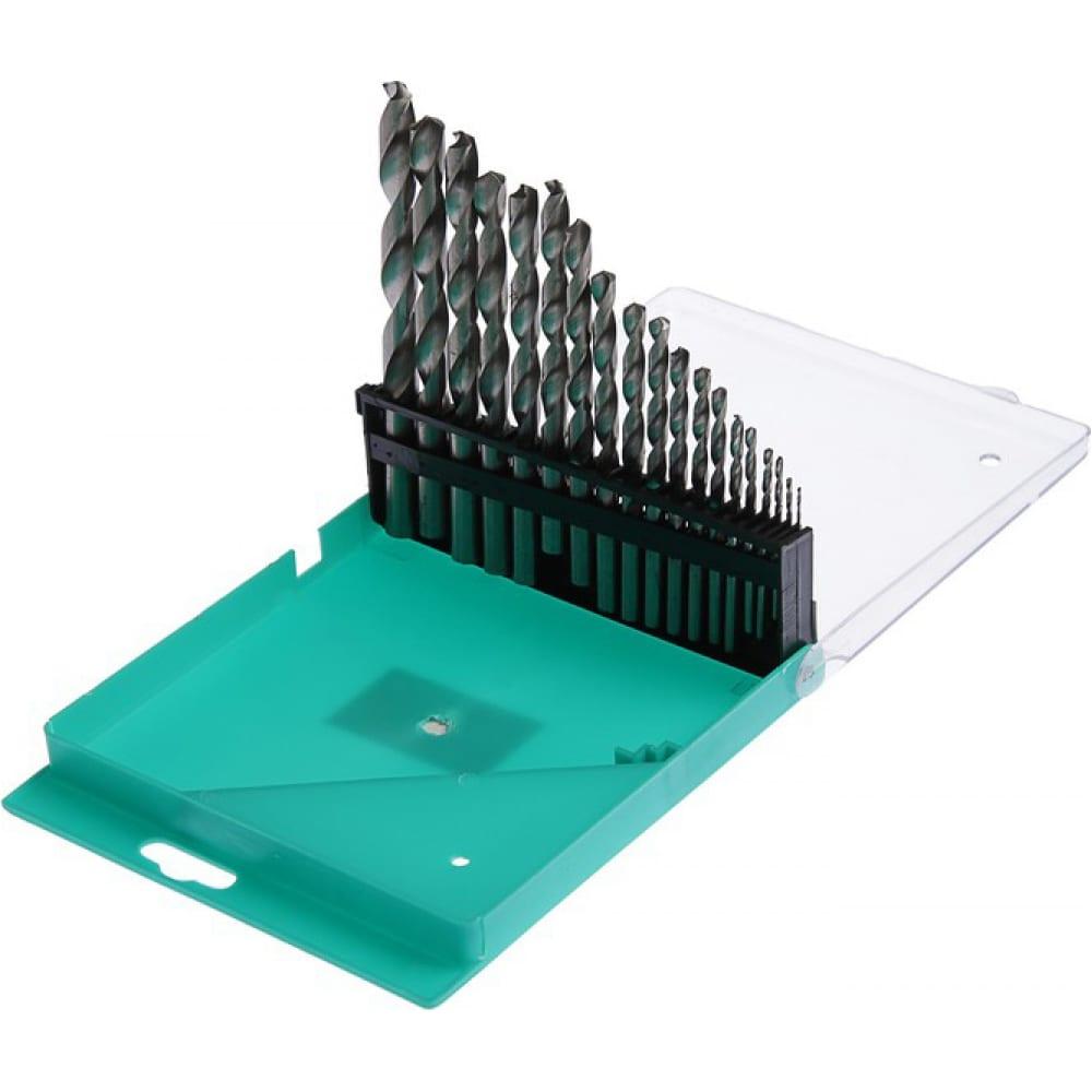 Купить Набор сверл по металлу (19 шт; 1-10 мм; шаг 0.5 мм; hss; цилиндрический хвостовик) tundra 1119695