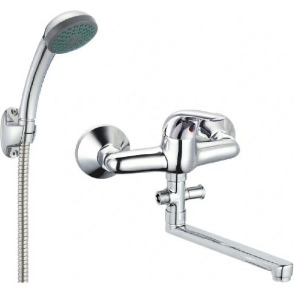 Купить Ванно-душевой смеситель juguni одноручный, с металлическим шлангом и хромированной лейкой 0402.941c