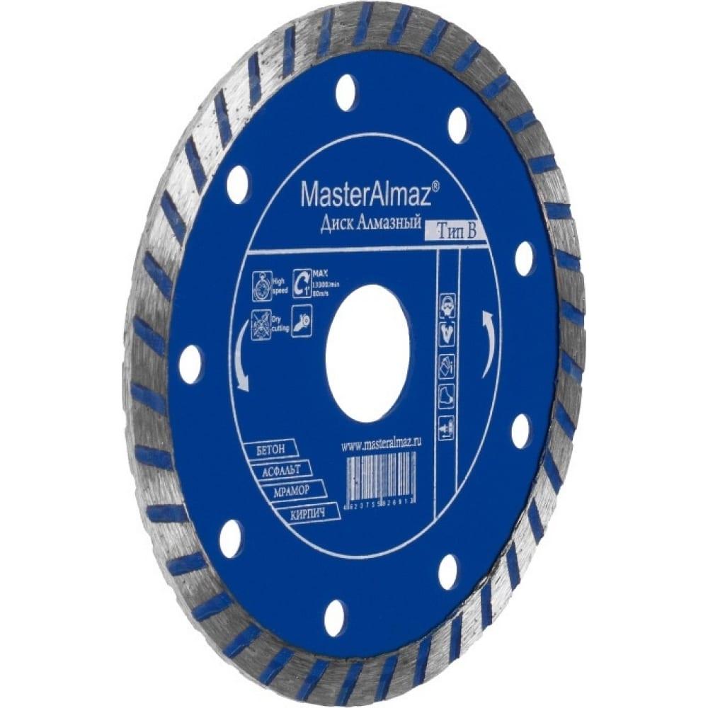 Купить Диск алмазный standart turbo 125х7х22.23 мм по бетону мастералмаз 10501421