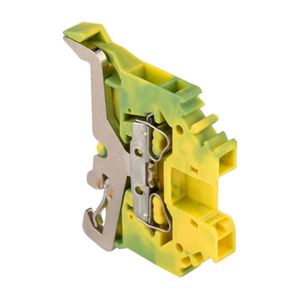 Самозажимная клеммная колодка ekf proxima jxb-s-2.5 24а, земля plc-jxb-s-2.5pe