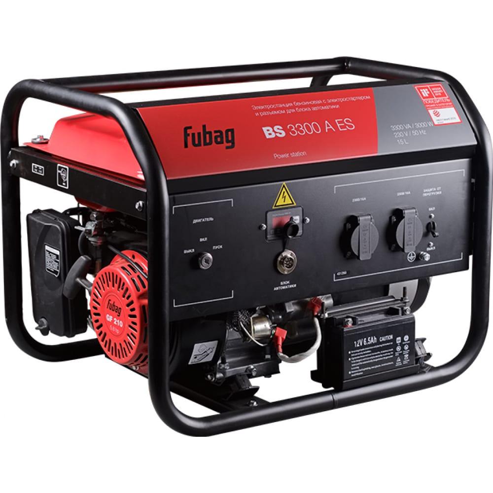 Бензиновая электростанция fubag bs 3300 a es 431289