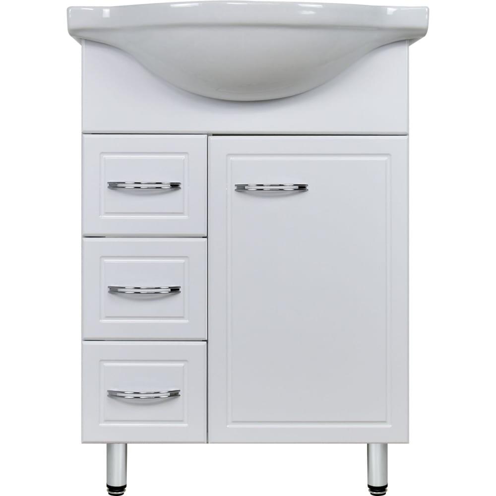 Купить Тумба doratiz лайма 60 под умывальник сатурн с ящиком, белая, 3 ящика 9908.205