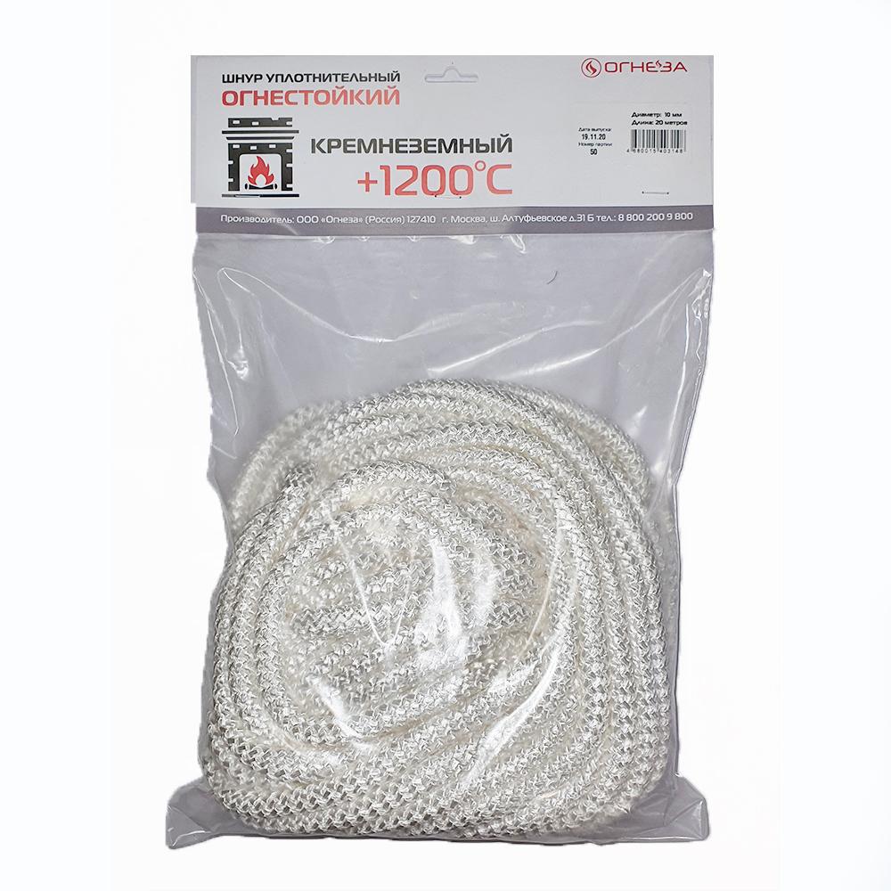 Купить Термостойкий кремнеземный шнур огнеза шкн 10 мм х 20 м 107415