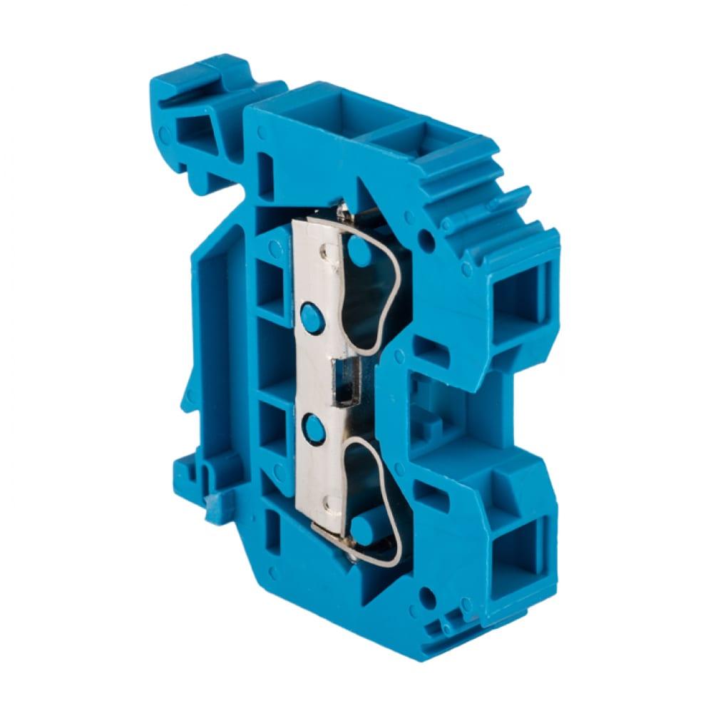 Колодка клеммная самозажимная ekf jxb-s-10 proxima, 57а, синяя plc-jxb-s-10b