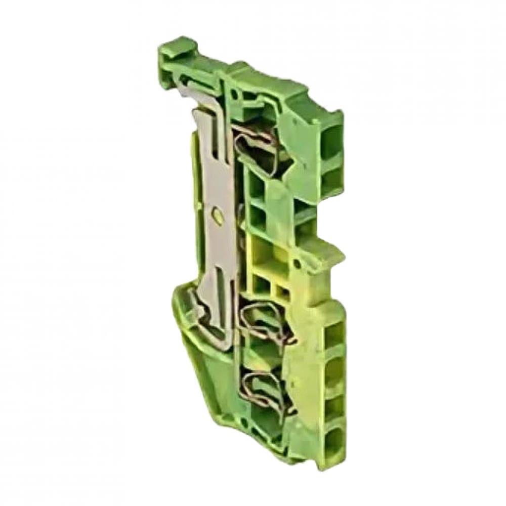 Клеммная самозажимная колодка ekf jxb-st-2.5 proxima, 3 вывода, земля plc-jxb-st-2.5-3-pen