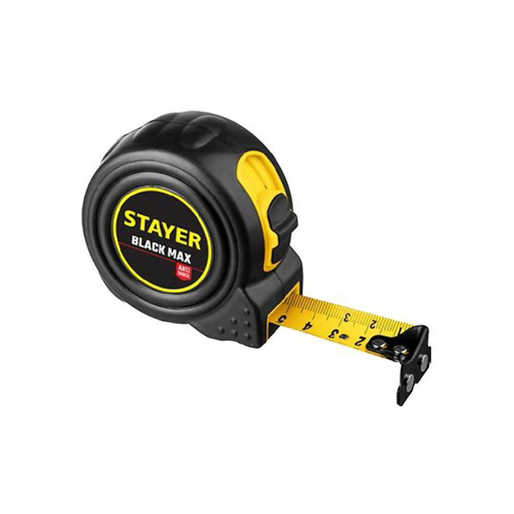 Купить Рулетка stayer blackmax 5м / 25мм в ударостойком полностью обрезиненном корпусе и двумя фиксаторами 3410-05-25_z02