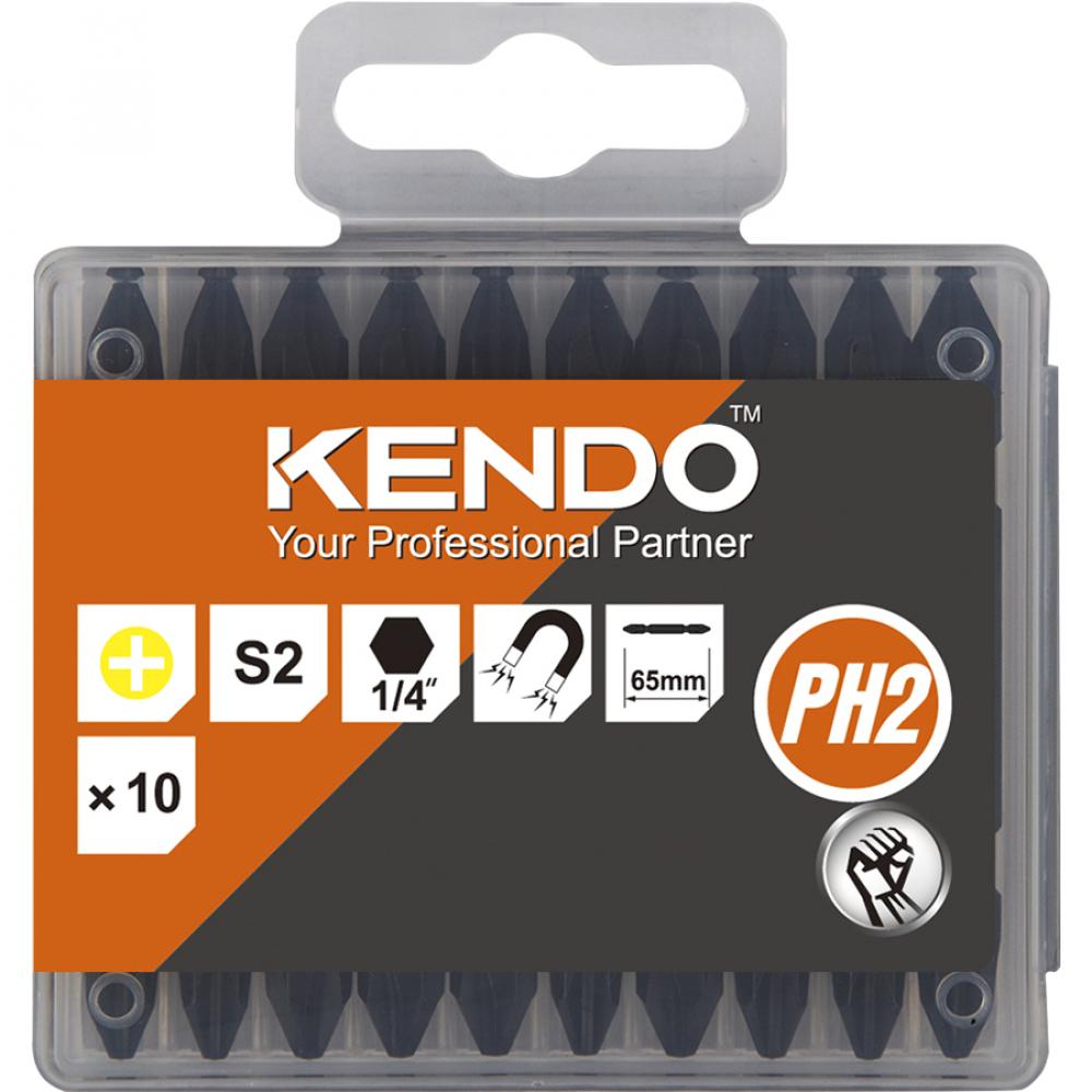 Купить Набор бит двухсторонних ph2-ph2x65 мм kendo 23230532