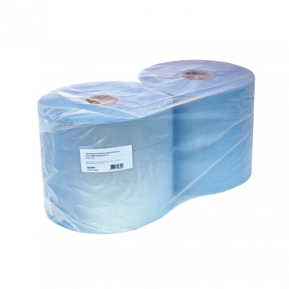 Протирочная бумага norm cиняя, 24х35 см,