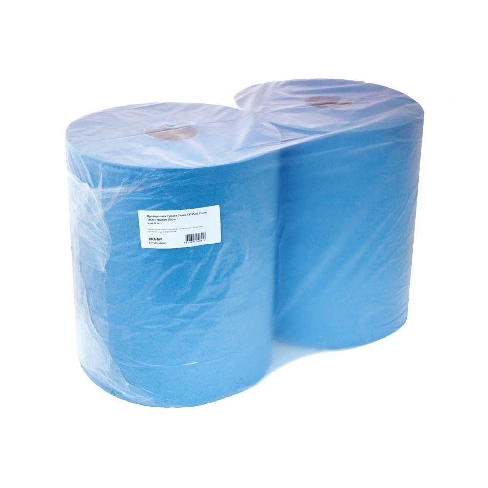 Протирочная бумага norm синяя, 33х35 см,
