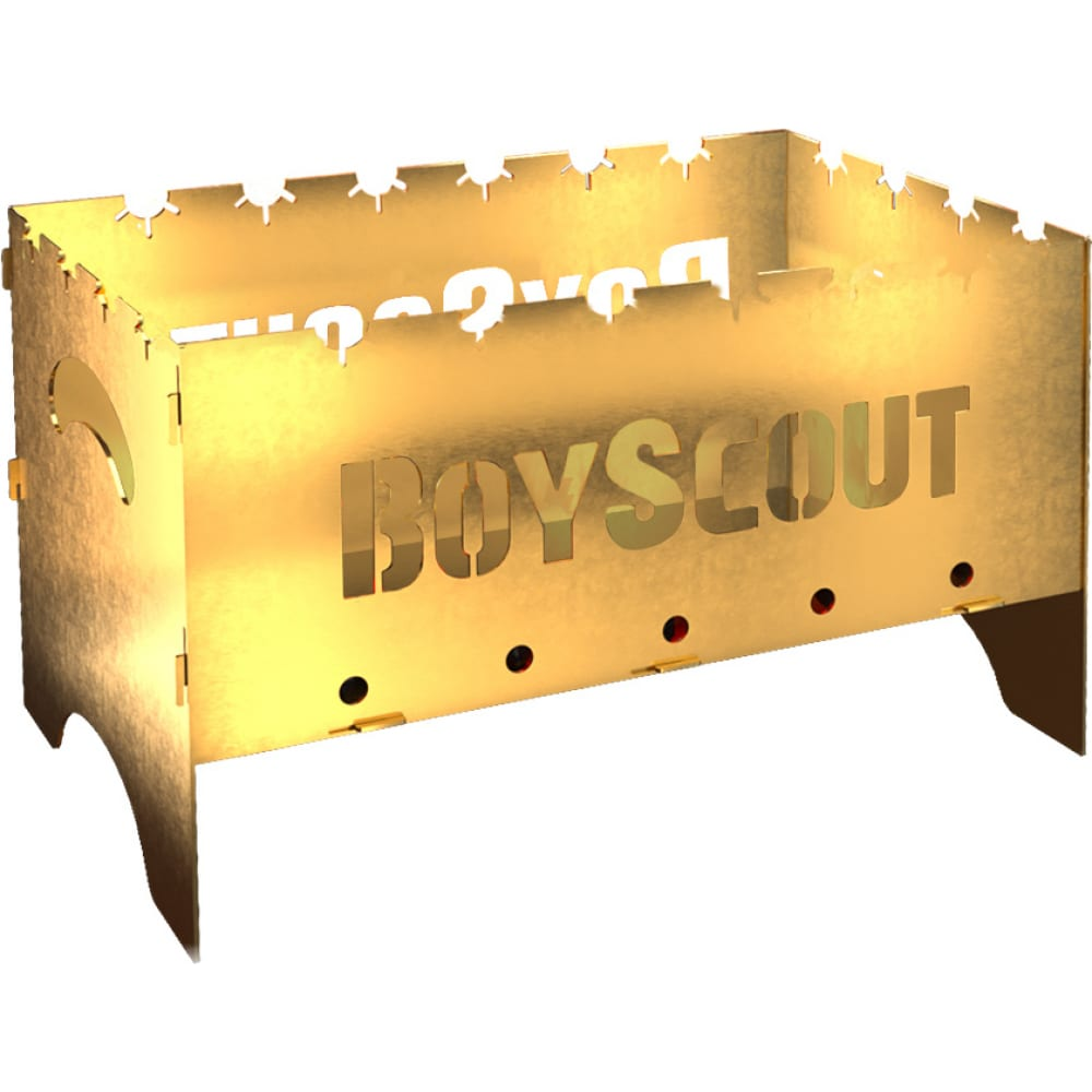 Складной мангал boyscout gold 500х300х300х1.5 мм 61500