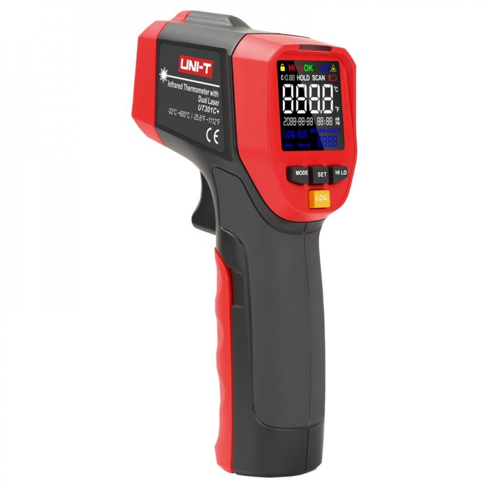 Цифровой инфракрасный термометр-пирометр uni-t ut302c+, -32c/+1100c, 00-00004261