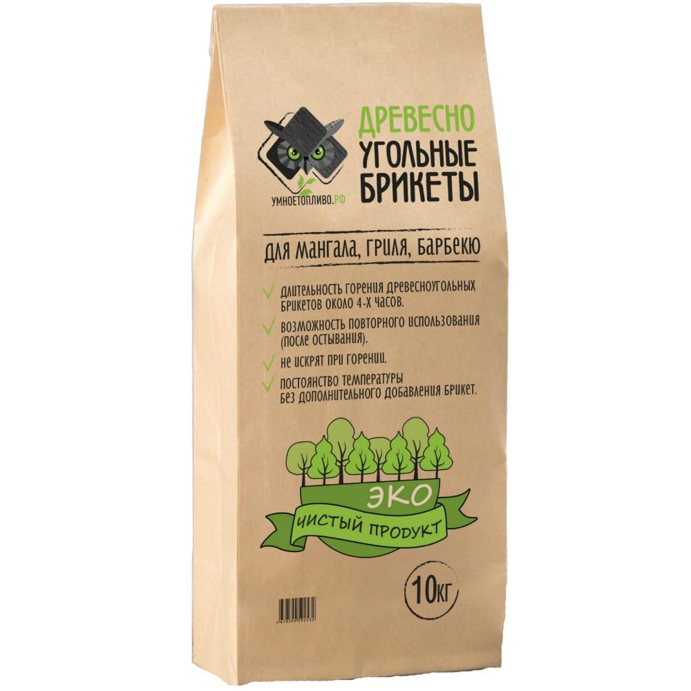 Древесно-угольные брикеты для мангала, гриля, барбекю умноетопливо.рф 10 кг 4678599592532