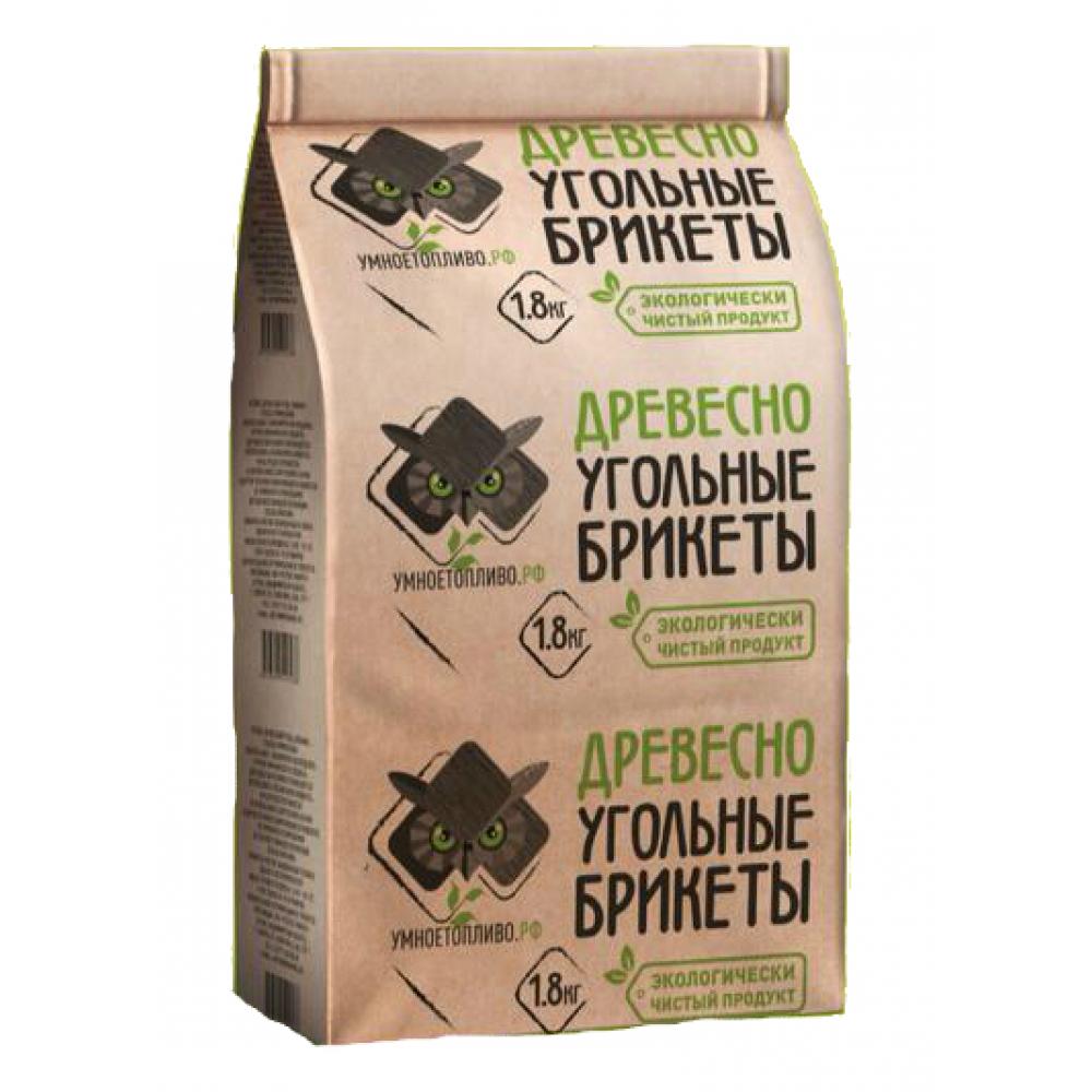 Древесно-угольные брикеты для мангала, гриля, барбекю умноетопливо.рф 1.8 кг 4678599590538