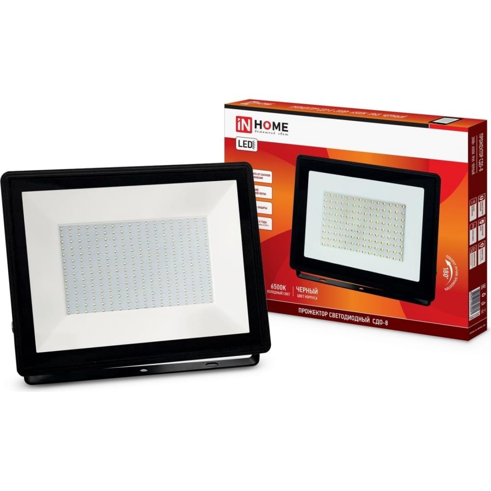 Купить Светодиодный прожектор in home сдо-8 200вт 230в 6500к 18000лм ip65 4690612030081