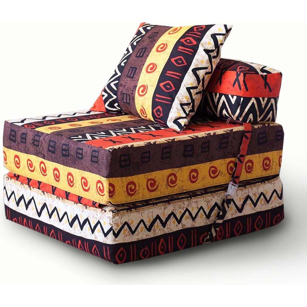 Купить Бескаркасное кресло-кровать mypuff африка, мебельный хлопок kv_048
