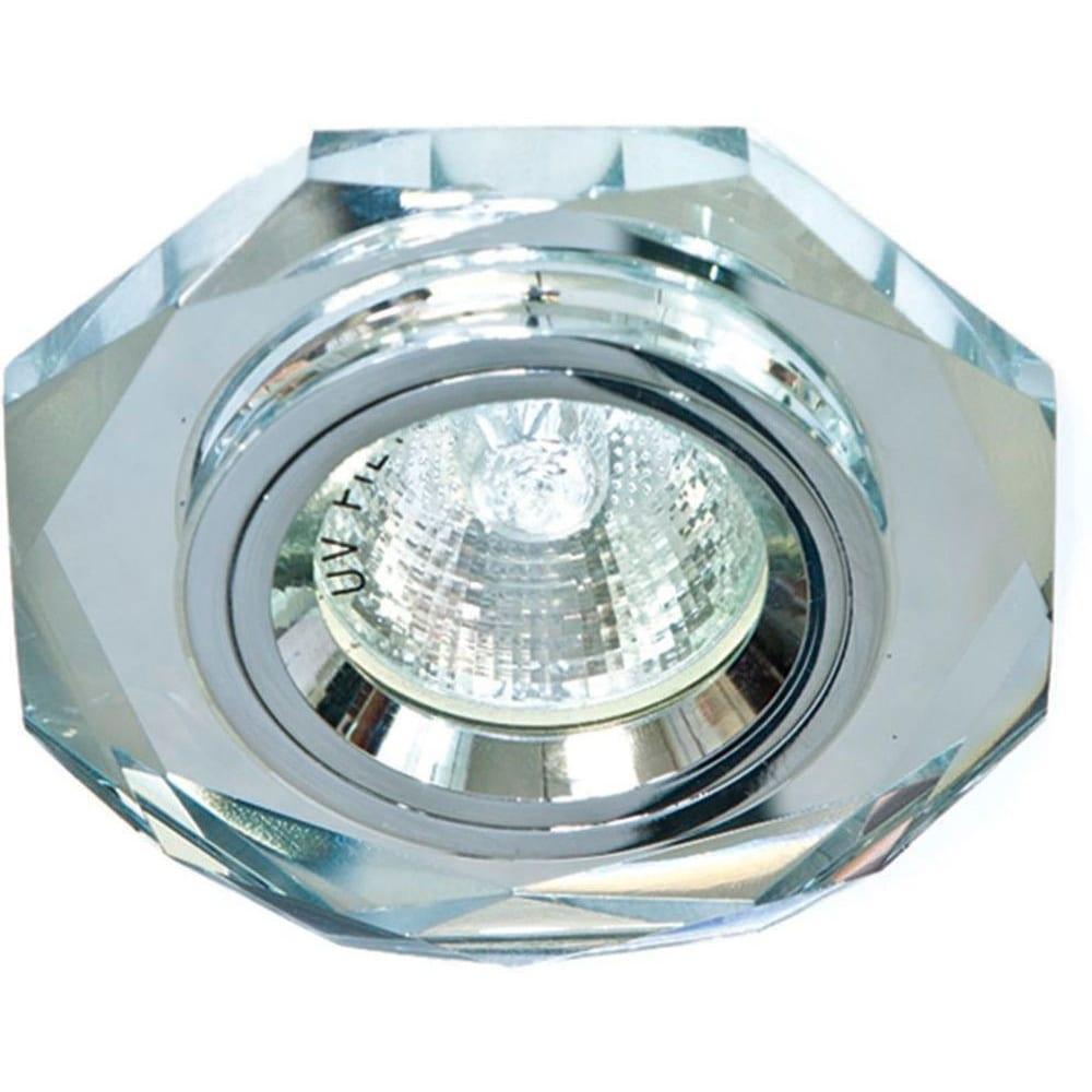 Купить Светильник feron иво-50w 12в, g5.3, серебро с/с серебро 19701