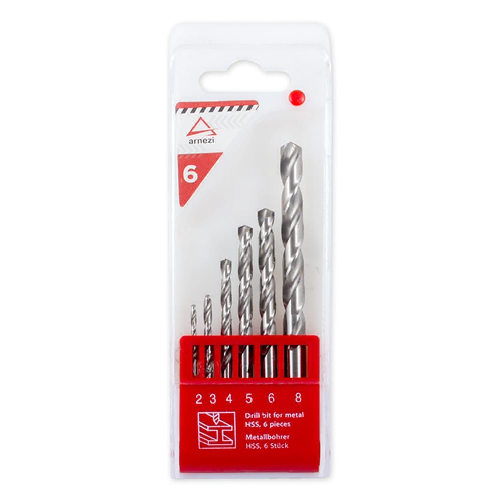 Купить Набор сверл по металлу (6 шт; 2-8 мм) arnezi 00-01052304
