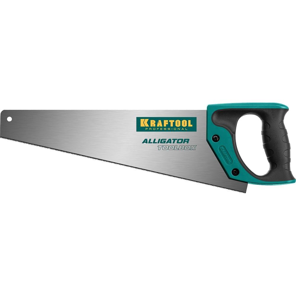 Ножовка kraftool expert kraftmax toolbox, многоцелевая, с точным резом, специальный закаленный зуб, 13 /14 tpi, 350мм 15227-35