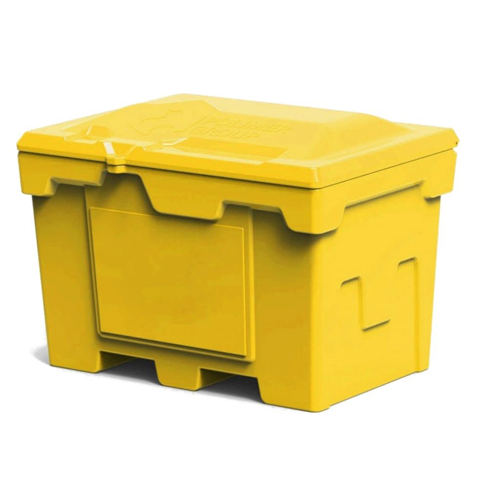 Купить Ящик 500 л с крышкой polimer group цвет желтый fb27