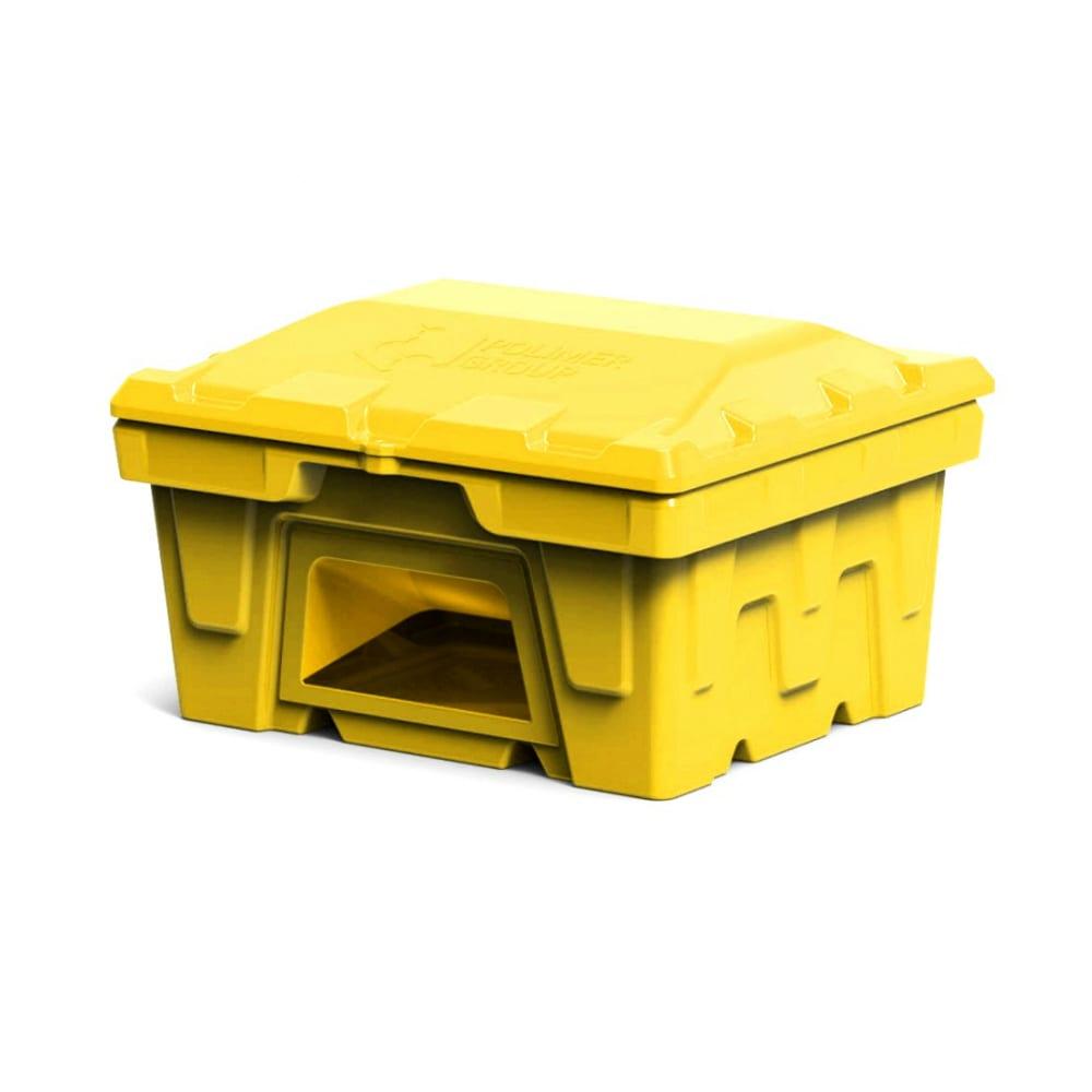 Купить Ящик 250 л с крышкой и дозатором polimer group цвет желтый fb117