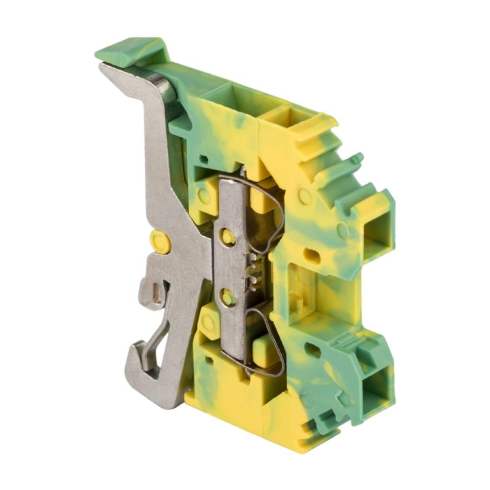 Клеммная самозажимная колодка ekf jxb-s-4 32а земля proxima plc-jxb-s-4pe