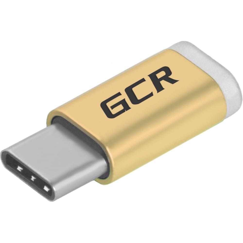 Купить Переходник usb type c - microusb 2.0 m-f gcr золотистый vivuci3u2mf-g