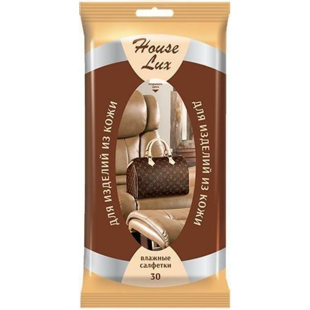 Купить Влажные салфетки для изделий из кожи мультидом №30 house lux 48075