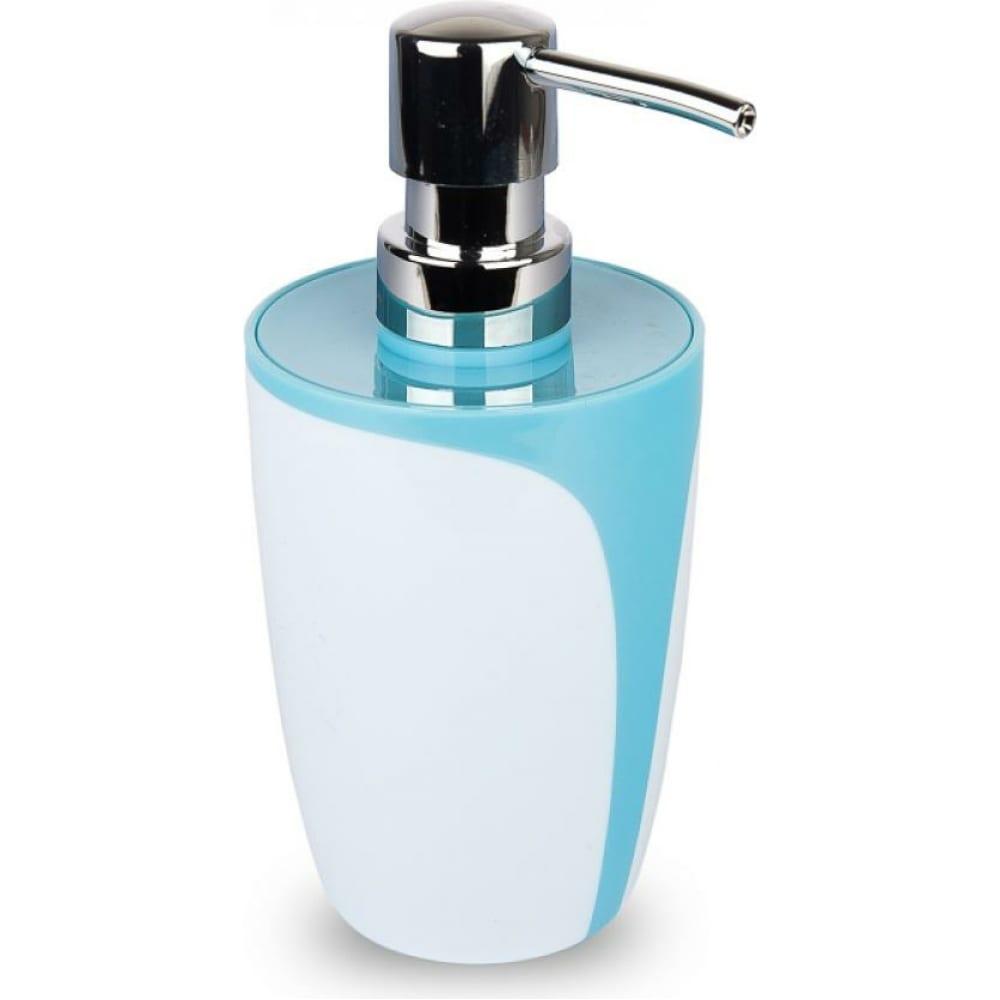 Купить Дозатор для жидкого мыла аквалиния drop пластик, голубой b0458-1