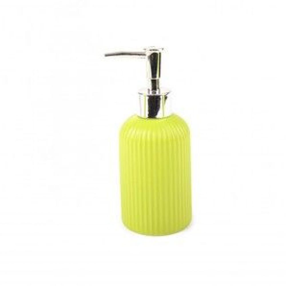 Купить Дозатор для жидкого мыла аквалиния плиссе лайм матовый, керамика ce1610ja -ld