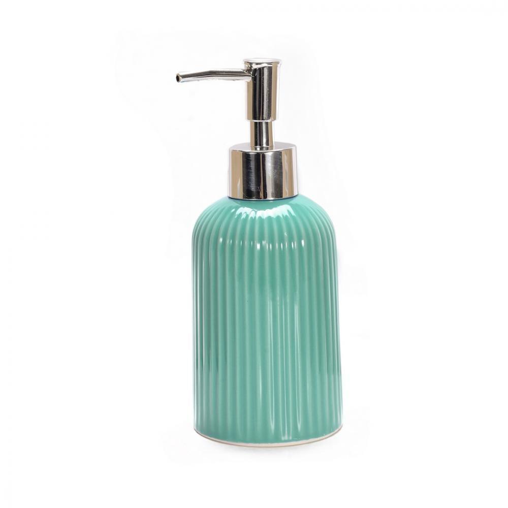 Купить Дозатор для жидкого мыла аквалиния плиссе бирюзовый, керамика ce1610b-ld