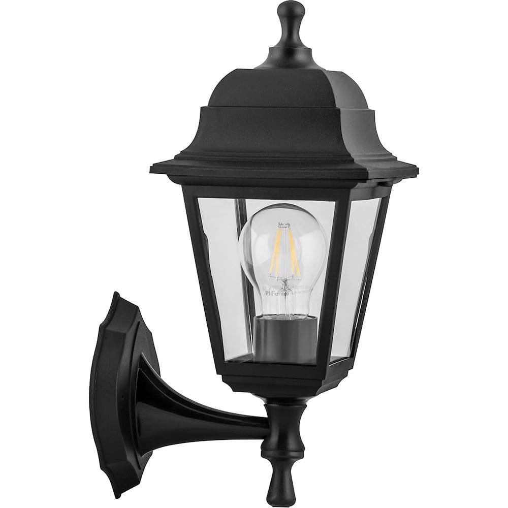 Купить Садово-парковый светильник feron нбу 04-60-001 60w 230v e27 340*190мм черный, вверх/вниз, 4-х гранник 32226