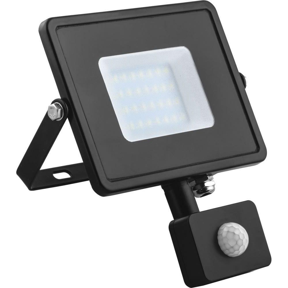 Купить Светодиодный прожектор feron ll-907 с датчиком 30w 6400k 230v черный ip44 153*178*54мм 29557