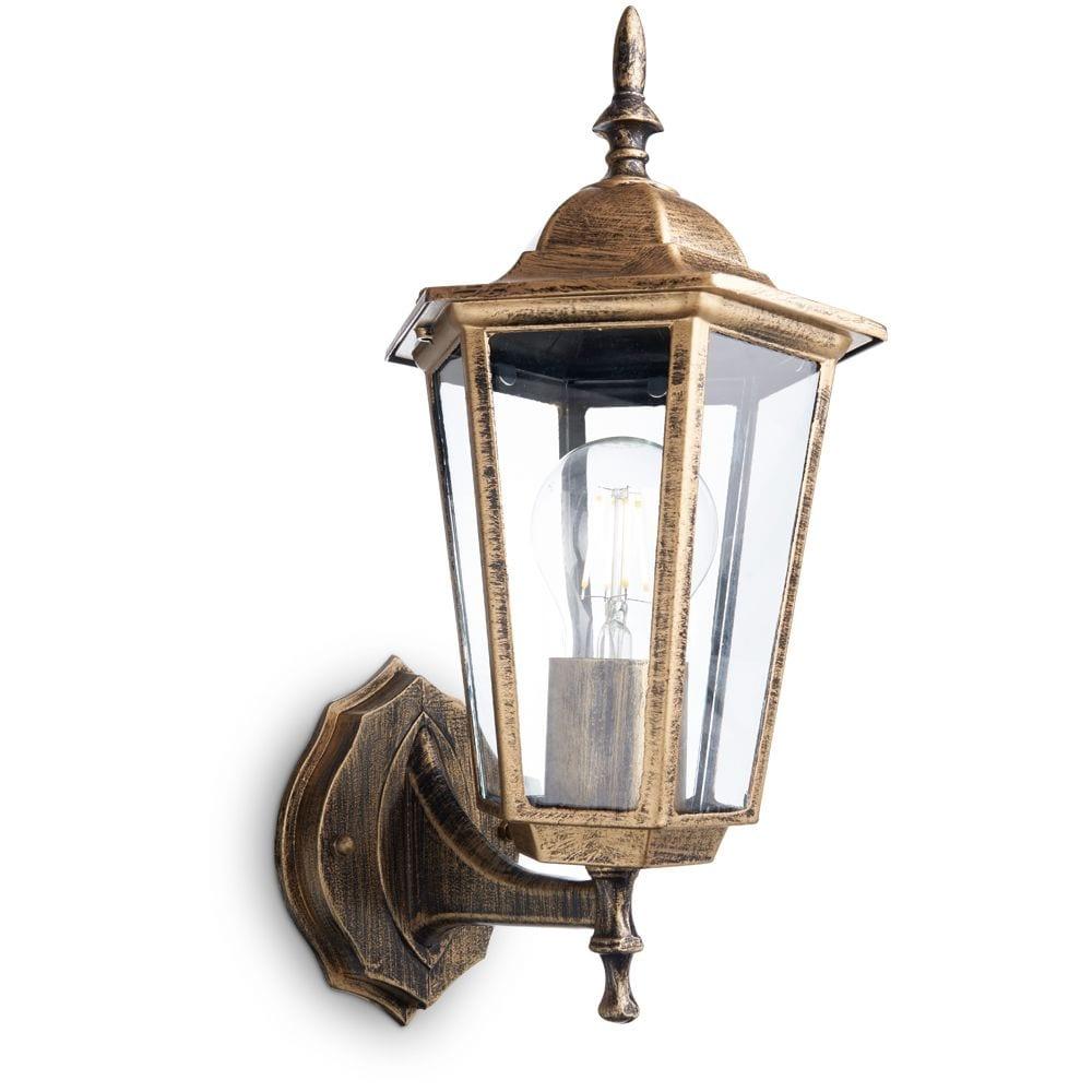 Купить Светильник feron нбу-60w вверх, е27, ip44, черное золото 11125