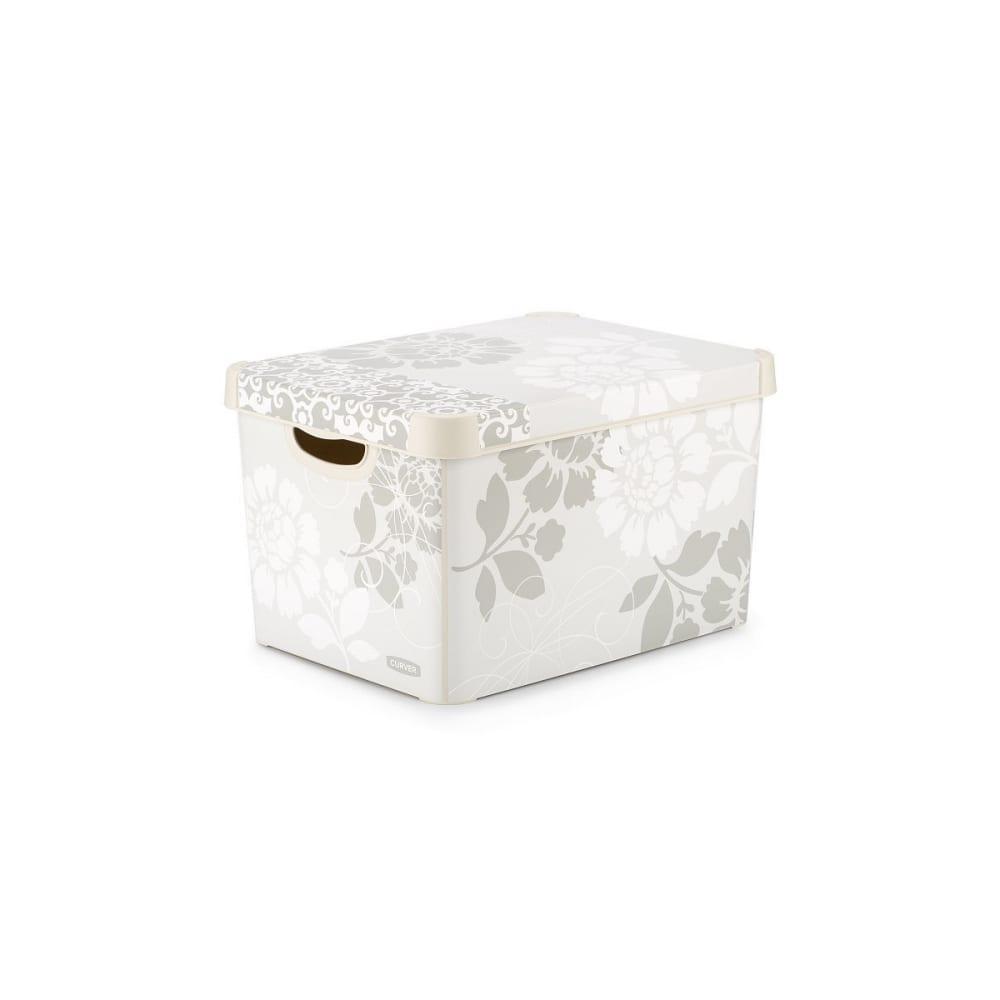 Купить Короб ящик для хранения curver стокгольм romance 22 л 04711-d64