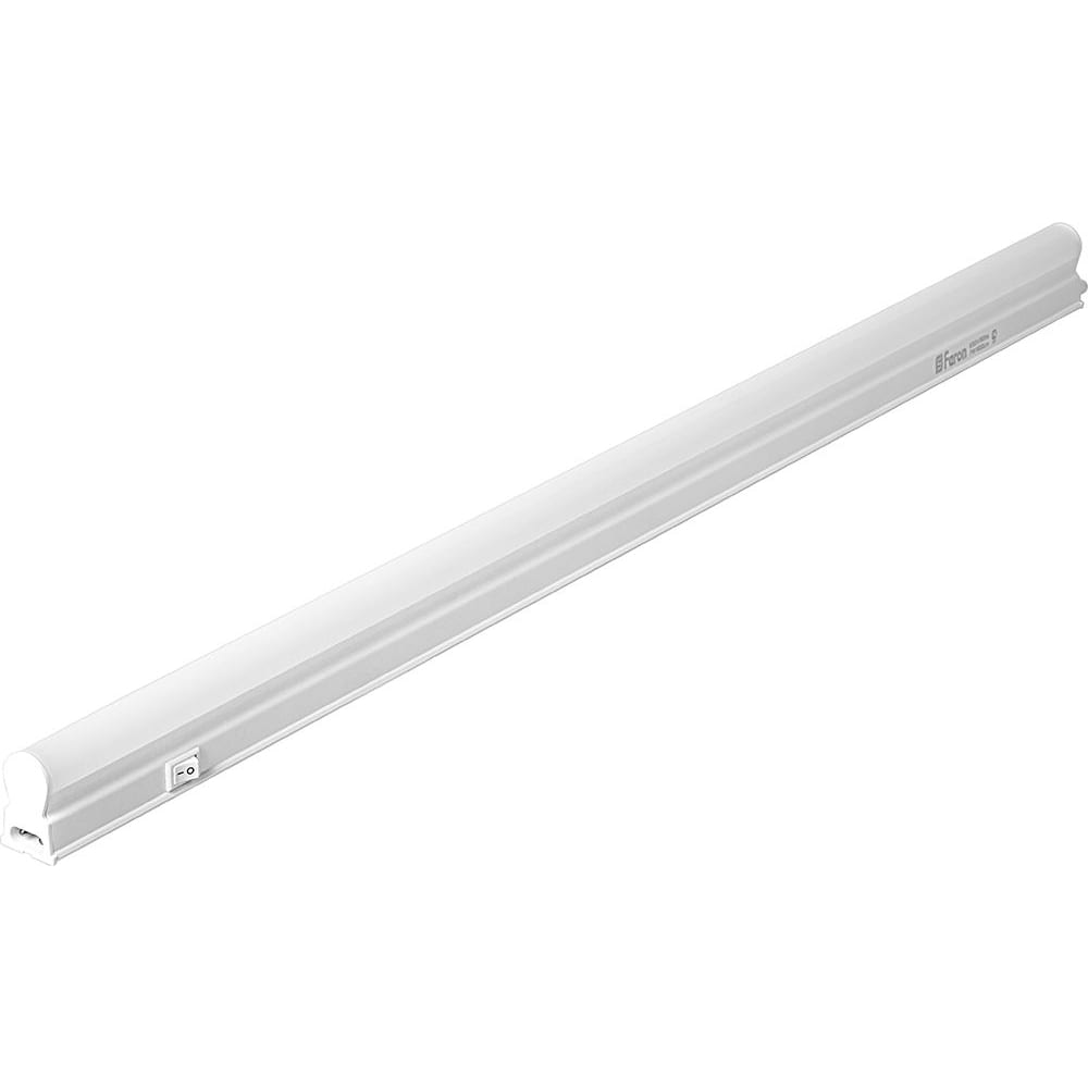 Светодиодный светильник feron al5038 7w 600lm 4000k в пластиковом корпусе с выключателем и сетевым шнуром 570х22х35мм 27946.