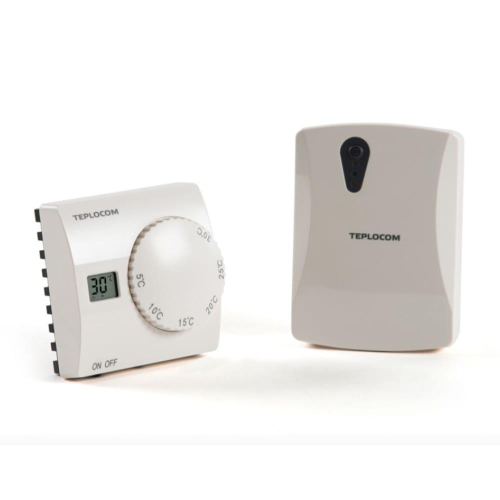 Купить Радио термостат беспроводной комнатный teplocom ts-2aa 3a rf2 (220в; 3а; 868 мгц) бастион 929