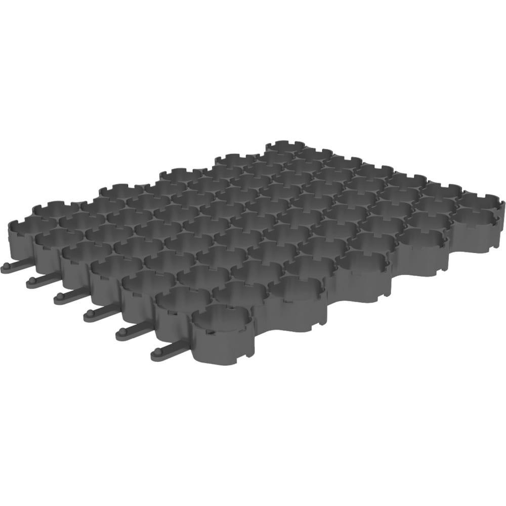 Купить Газонная решетка gidrolica 530х430х35 мм, пластиковая, черная 610